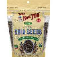 Bob's Red Mill Chia Seeds, Organic, Whole, 12 Ounce