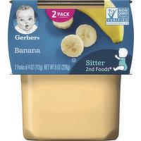 Gerber Banana, Sitter, 2nd Foods, 2 Pack, 2 Each