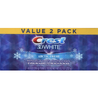 Crest Toothpaste, Arctic Fresh, Value 2 Pack, 2 Each