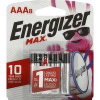 Energizer Batteries, Alkaline, AAA, 1.5V, 8 Pack, 8 Each