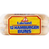 Lakeland Hamburger Buns, Jumbo, 12 Each