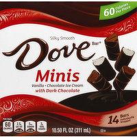 Dove Ice Cream Bars, Vanilla Chocolate, with Dark Chocolate, 14 Each