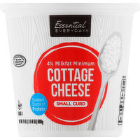 Essential Everyday Cottage Cheese, Small Curd, 4% Milkfat Minimum, 24 Ounce