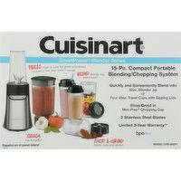 Cuisinart Compact Portable Blending/Chopping System, 15 Piece, SmartPower Blender Series, 1 Each