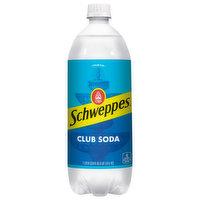Schweppes Club Soda, Premium, 33.8 Fluid ounce