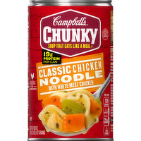 Campbell's Chunky Soup, Classic Chicken Noodle with White Meat Chicken, 18.6 Ounce