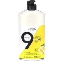 9 Elements Liquid Dish Soap Lemon Scent, 16 Fluid ounce