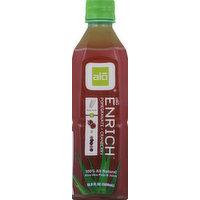 Alo Aloe Vera Pulp & Juice, Pomegranate + Cranberry, 16.9 Ounce