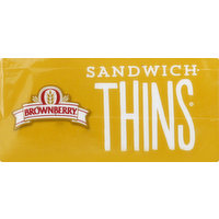 Brownberry Sandwich Thins, Honey Wheat, Pre-Sliced, 6 Each