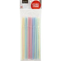 Essential Everyday Straws, Flexible, Multi-Color, 50 Each