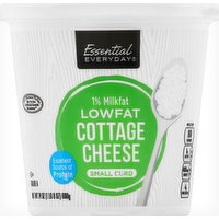Essential Everyday Cottage Cheese, Small Curd, 1% Milkfat, Low Fat, 24 Ounce
