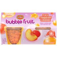 Del Monte Bubble Fruit, Peach Strawberry Lemonade Flavor, 4 Each