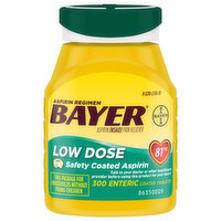 Bayer Pain Reliever, 81 mg, Low Dose, Enteric Coated Tablets, 300 Each