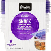 Essential Everyday Reusable Containers, Snack, 9.5 Fluid Ounce, 6 Each