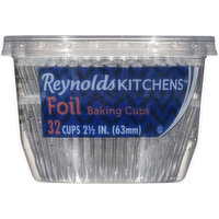 Reynolds Kitchens Baking Cups, Foil, 2.5 Inch, 32 Each