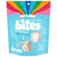 Jet-Puffed Marshmallow Bites, Birthday Cake Flavored, Coated, 4 Ounce