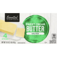 Essential Everyday Butter, Sweet Cream, Salted, 4 Each