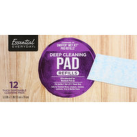 Essential Everyday Cleaning Pads, Thick Disposable, Deep Cleaning, Refills, 12 Each