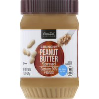 Essential Everyday Spread, Peanut Butter, Crunchy, 16 Ounce