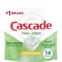 Cascade Free and Clear ActionpPacs Lemon Scent, 14 Each