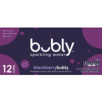 bubly Sparkling Water, Blackberry, 12 Each