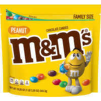 M&M'S Chocolate Candies, Peanut, Family Size, 19.2 Ounce