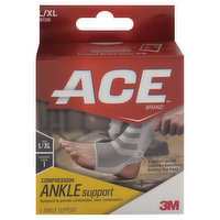ACE Ankle Support, Compression, L/XL, 1 Each