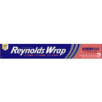 Reynolds Wrap Aluminum Foil, Everyday, 75 Square Feet, 1 Each
