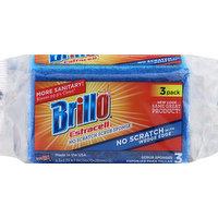 Brillo Scrub Sponge, No Scratch, Estracell, 3 Pack, 3 Each