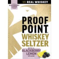 Proof Point Seltzer, Whiskey, Blackberry Lemon, 4 Each