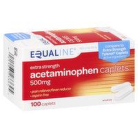 Equaline Acetaminophen, Extra Strength, 500 mg, Caplets, 100 Each