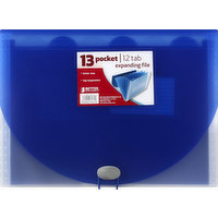 BETTER OFFICE PRODUCTS Expanding File, 12 Tab, 13 Pocket, 1 Each