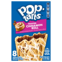 Pop Tarts Toaster Pastries, Frosted, Cinnamon Roll, 8 Each