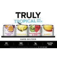 Truly Hard Seltzer, Tropical Mix Pack, 12 Each