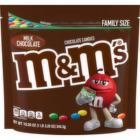 M&M'S Chocolate Candies, Milk Chocolate, Family Size, 19.2 Ounce