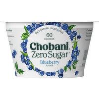 Chobani Yogurt, Zero Sugar, Blueberry, 5.3 Ounce