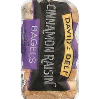 Davids Deli Bagels, Cinnamon Raisin, Presliced, 5 Each