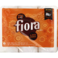 Fiora Paper Towels, 3-Ply, 6 Each