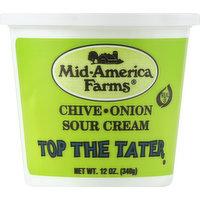 Mid America Farms Sour Cream, Chive Onion, 12 Ounce