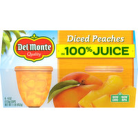 Del Monte Diced Peaches in 100% Juice, 4 Pack, 4 Each