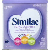 Similac Infant Formula, with Iron, Milk-Based Powder, Birth-12 Months, 12 Ounce