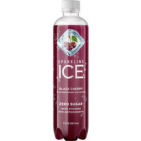 Ice Sparkling Water, Zero Sugar, Black Cherry, 17 Ounce