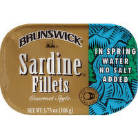 Brunswick Sardine Fillets, in Spring Water, Gourmet Style, 3.75 Ounce
