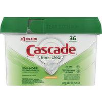 Cascade Dishwasher Detergent, Lemon Essence, ActionPacs, 36 Each
