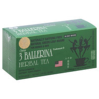 3 Ballerina Herbal Tea, Extra Strength, Caffeine Free, Bags, 18 Each