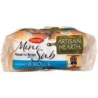 Artisan Hearth Bread Rolls, Gourmet, Mini Sub, 8 Each