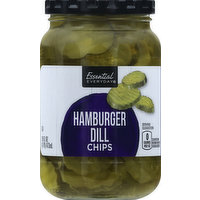 Essential Everyday Hamburger Dill, Chips, 16 Ounce