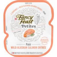 Fancy Feast Cat Food, Pate, Wild Alaskan Salmon Entree, 2 Each