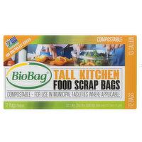 BioBag 13 Gallon Tall Food Waste Bags, 1 Each