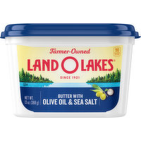 Land O Lakes Butter with Olive Oil & Sea Salt, 13 Ounce